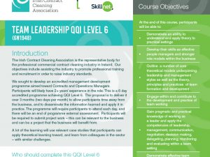 Team Leadership – Level 6 QQI Accredited Programme